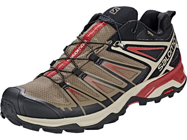 Salomon X Ultra 3 GTX Calzado Hombre, bungee cord/vintage kaki/red dahlia